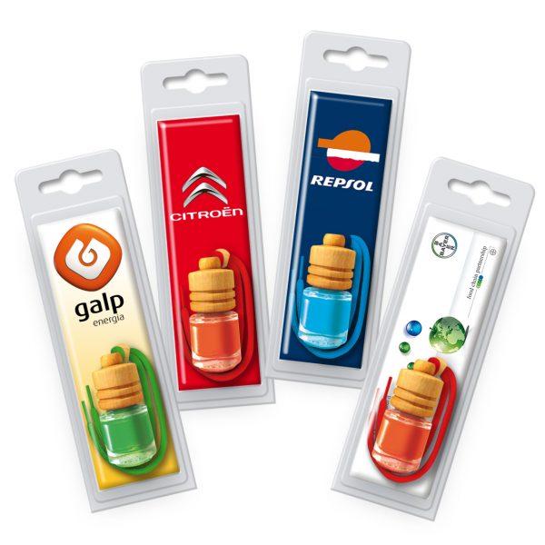 Ambientador botellita publicidad coche